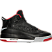 Right view of Boys' Grade School Jordan Dub Zero Basketball Shoes in Black/Gym Red-Wolf Grey