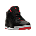 Three Quarter view of Boys' Grade School Jordan Dub Zero Basketball Shoes in Black/Gym Red-Wolf Grey