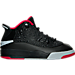 Right view of Boys' Preschool Jordan Dub Zero Basketball Shoes in Black/Gym Red/Wolf Grey/White