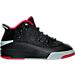 Right view of Boys' Preschool Jordan Dub Zero Basketball Shoes in Black/Gym Red/Wolf Grey/White