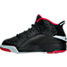 Left view of Boys' Preschool Jordan Dub Zero Basketball Shoes in Black/Gym Red/Wolf Grey/White