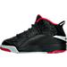 Left view of Boys' Preschool Jordan Dub Zero Basketball Shoes in Black/Gym Red/Wolf Grey/White
