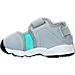 Left view of Girls' Toddler Nike Little Rift Training Shoes in Wolf Grey/White/Hyper Turq