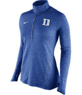 Women's Nike Duke Blue Devils College Stadium Element Half-Zip Shirt