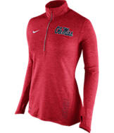 Women's Nike Mississippi Rebels College Stadium Element Half-Zip Shirt