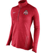 Women's Nike Ohio State Buckeyes College Stadium Element Half-Zip Shirt