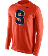 Men's Nike Syracuse Orange College Logo Long-Sleeve T-Shirt