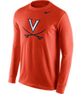Men's Nike Virginia Cavaliers College Logo Long-Sleeve T-Shirt