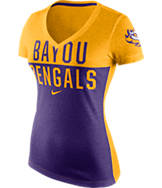 Women's Nike LSU Tigers College Chop Block T-Shirt