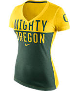 Women's Nike Oregon Ducks College Chop Block T-Shirt