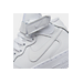 Front view of Kids' Grade School Nike Air Force 1 Mid Casual Shoes in White/White