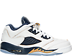 Boys' Grade School Air Jordan Retro 5 Low Basketball Shoes