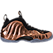 Right view of Men's Nike Air Foamposite One Basketball Shoes in Black/Metallic Copper