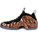 Left view of Men's Nike Air Foamposite One Basketball Shoes in Black/Metallic Copper