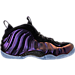 Right view of Men's Nike Air Foamposite One Basketball Shoes in Black/Varsity Purple
