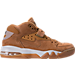 Right view of Men's Nike Air Force Max Premium Basketball Shoes in Flax/Phantom/Gum