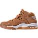 Left view of Men's Nike Air Force Max Premium Basketball Shoes in Flax/Phantom/Gum