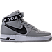 Right view of Men's Nike NBA Air Force 1 High 07 Casual Shoes in Silver/White
