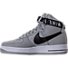 Left view of Men's Nike NBA Air Force 1 High 07 Casual Shoes in Silver/White