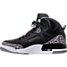 Left view of Men's Air Jordan Spizike Off-Court Shoes in Black/Varsity Red/Cement Grey