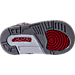Bottom view of Boys' Toddler Jordan Spizike Basketball Shoes in White/Varsity Red/Cement Grey/Black