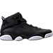 Right view of Men's Air Jordan 6 Rings Basketball Shoes in Black/Matte Silver/White