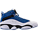 Right view of Men's Jordan 6 Rings Basketball Shoes in Team Royal/Black/White