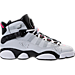 Right view of Girls' Grade School Jordan 6 Rings (3.5y-9.5y) Basketball Shoes in Pure Platinum/Hyper Pink/Black/White
