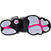 Bottom view of Girls' Grade School Jordan 6 Rings (3.5y-9.5y) Basketball Shoes in Pure Platinum/Hyper Pink/Black/White