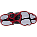 Bottom view of Boys' Grade School Jordan 6 Rings Basketball Shoes in Black/White/Gym Red
