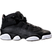 Right view of Boys' Grade School Jordan 6 Rings Basketball Shoes in Black/Matte Silver/White