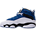 Left view of Boys' Grade School Jordan 6 Rings Basketball Shoes in Team Royal/Black/White/Metallic