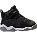 Right view of Boys' Toddler Jordan 6 Rings Basketball Shoes in Black/Matte Silver/White
