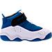 Right view of Boys' Toddler Jordan 6 Rings Basketball Shoes in Team Royal/Black/White