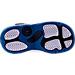 Bottom view of Boys' Toddler Jordan 6 Rings Basketball Shoes in Team Royal/Black/White