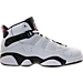 Right view of Girls' Preschool Jordan 6 Rings Basketball Shoes in Pure Platinum/Hyper Pink/Black/White