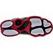 Bottom view of Boys' Preschool Jordan 6 Rings Basketball Shoes in Black/White/Gym Red