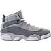 Right view of Boys' Preschool Jordan 6 Rings Basketball Shoes in Matte Silver/White/Cool Grey