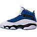 Left view of Boys' Preschool Jordan 6 Rings Basketball Shoes in Team Royal/Black/White