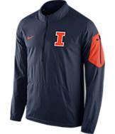 Men's Nike Illinois Fighting Illini College Lockdown Half-Zip Jacket