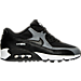 Right view of Women's Nike Air Max 90 Running Shoes in Black/Cool Grey/White