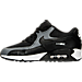 Left view of Women's Nike Air Max 90 Running Shoes in Black/Cool Grey/White