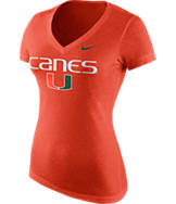 Women's Nike Miami Hurricanes College Local TB V-Neck T-Shirt