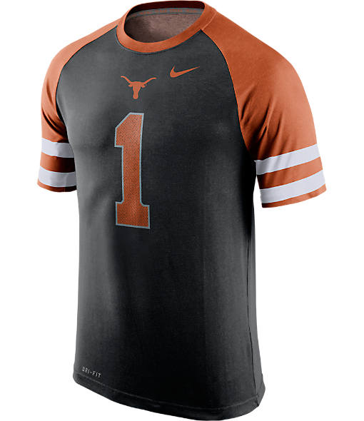 Men's Nike Texas Longhorns College Dri-FIT New Day Name and Number T-Shirt