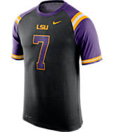 Men's Nike LSU Tigers College Dri-FIT New Day Name and Number T-Shirt