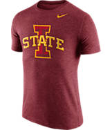 Men's Nike Iowa State Cyclones College Tri-Blend Logo Plus T-Shirt