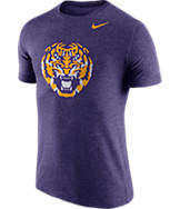 Men's Nike LSU Tigers College Tri-Blend Logo Plus T-Shirt