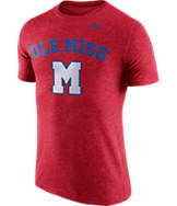 Men's Nike Mississippi Rebels College Tri-Blend Logo Plus T-Shirt