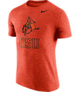 Men's Nike Oklahoma State Cowboys College Tri-Blend Logo Plus T-Shirt