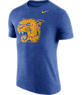 Men's Nike Pitt Panthers College Tri-Blend Logo Plus T-Shirt
